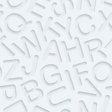 light abc: Light perforated paper with cut out effect. Abstract 3d seamless background. Vector EPS10.