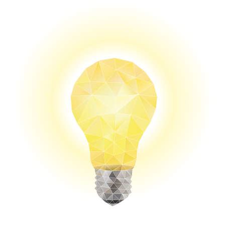 light bulb low: Light bulb. Vector Illustration on Low Poly Style