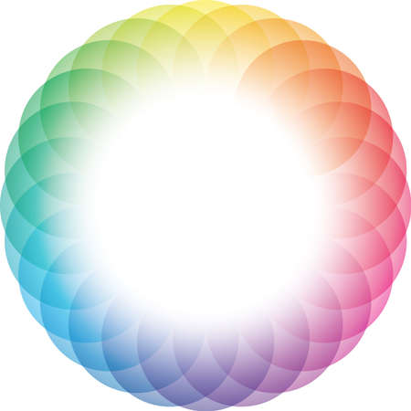 Color Wheel Frame Background. Vector Eps10. Vector