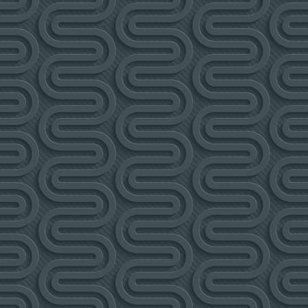 Dark perforated paper with cut out effect. Abstract 3d seamless background. Vector EPS10. Vector