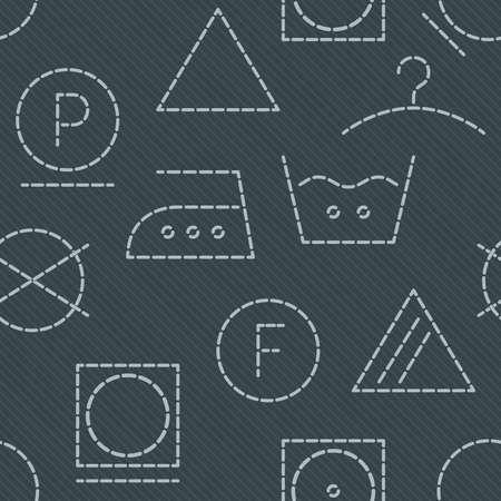 care symbol: Laundry seamless background.
