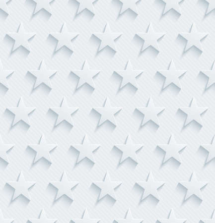 patriotic: Light perforated paper with cut out effect. 3d stars seamless background.