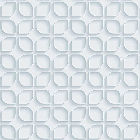 extrude: White paper with outline extrude effect. Abstract 3d seamless background. Halftone  Illustration