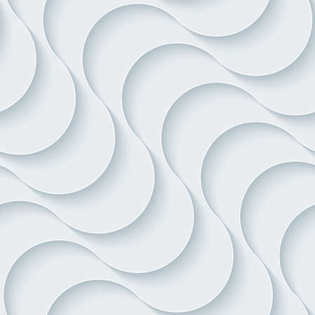 interior decoration: White paper with outline extrude effect. Abstract 3d seamless background. Illustration