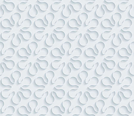perforated surface: White paper with outline extrude effect. Abstract 3d seamless background. Halftone vector EPS10.