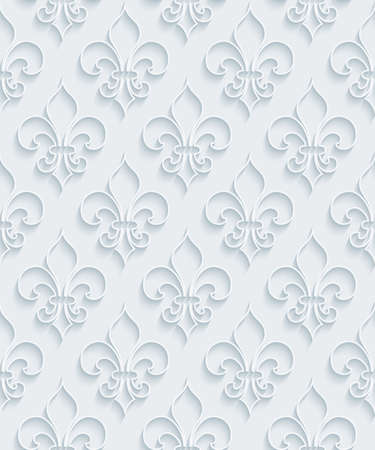 extrude: White paper with outline extrude effect. Abstract 3d seamless background. Halftone vector EPS10.