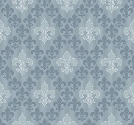 lys: Fleur-de-lis seamless wallpaper. Illustration