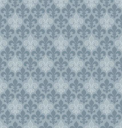 royal french lily symbols: Fleur-de-lis seamless wallpaper. Illustration