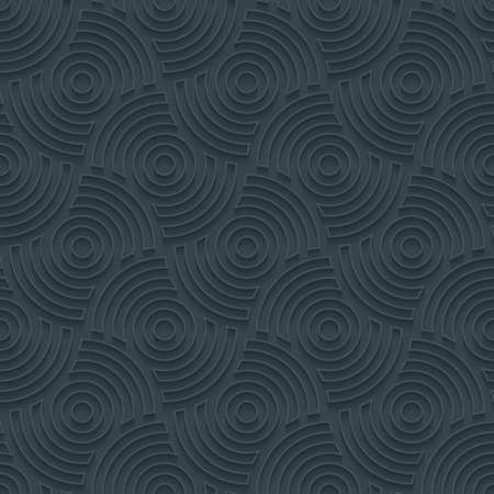 perforated: Dark perforated paper with outline extrude effect. 3d seamless wallpaper. Vector background EPS10. Illustration
