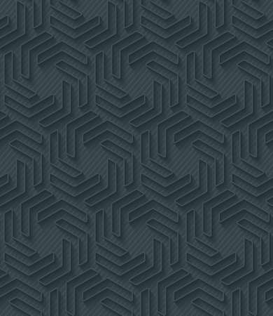 pinstripe: Dark perforated paper with outline extrude effect. 3d seamless wallpaper. Vector background EPS10. Illustration