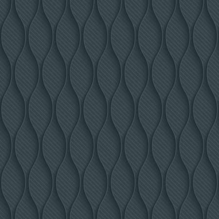 pavement: Dark perforated paper with outline extrude effect. 3d seamless wallpaper. Vector background