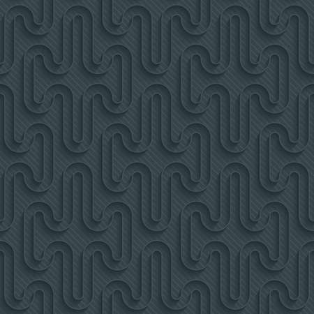 carbon neutral: Dark perforated paper with outline extrude effect. 3d seamless wallpaper. Vector background