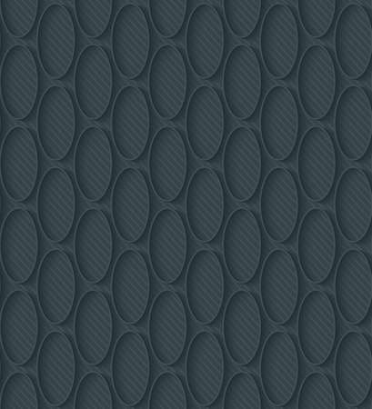 pinstripe: Dark perforated paper with outline extrude effect. 3d seamless wallpaper. Vector background