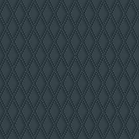 extrude: Dark perforated paper with outline extrude effect. 3d seamless wallpaper. Vector background EPS10. Illustration