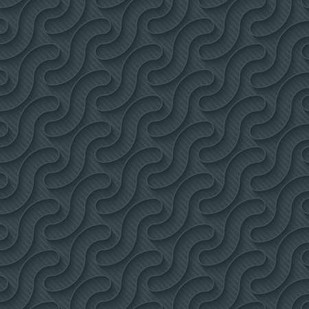 integral: Papel perforado oscuro con efecto de contorno de extrusi�n. Papel pintado incons�til 3d. Vector de fondo