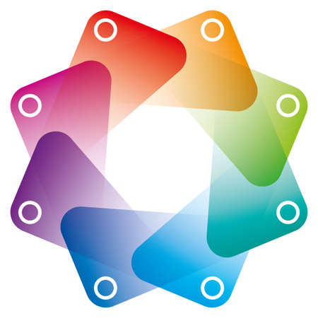 circle frames: Colorful Octagon Symbol with transparent effect. Vector EPS10 with copyspace.
