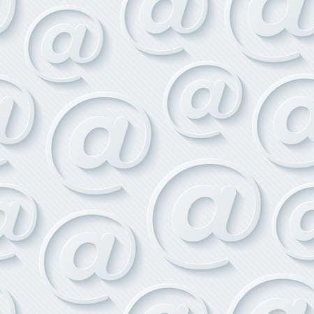 correo electronico: Fondos de escritorio e-mail Gris claro. De fondo sin fisuras 3d. Vector EPS10.