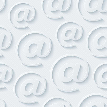 emails: Light gray e-mail wallpaper. 3d seamless background. Vector EPS10. Stock Photo
