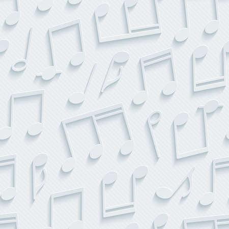 background music: Light gray musical wallpaper. 3d seamless background. Vector EPS10.