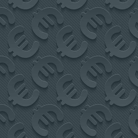 wall paper: Dark gray currency symbols wallpaper. 3d seamless background. Vector EPS10.