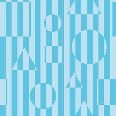 illusions: Striped seamless background in blue color with optical illusion effect.