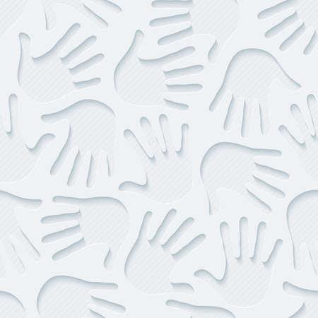 handprints: Handprints wallpaper. 3d seamless background. Vector.