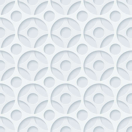vynil: Light gray perforated paper with cut out effect. Abstract 3d seamless background. Vector.