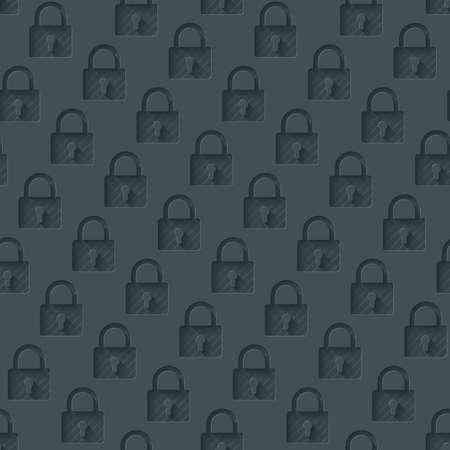 padlocks: Dark gray padlocks wallpaper. 3d seamless background. Vector.