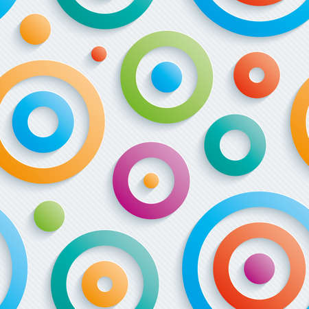 Colorful circles walpaper. 3d seamless background. Vector.