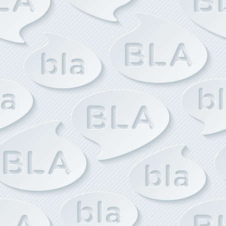 Bla-bla-bla walpaper. 3d seamless background. Vector.