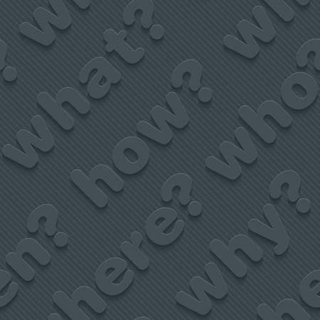 thesaurus: Question words walpaper. 3d seamless background. Vector.
