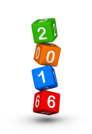 falling cubes: Happy New Year 2016. Falling cubes.