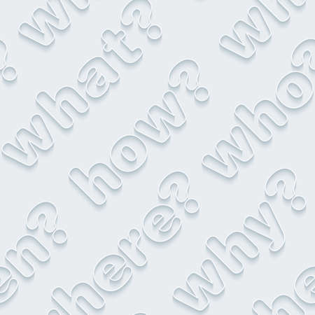 thesaurus: Question words walpaper. 3d seamless background. Vector EPS10. Illustration