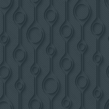 perforated: Dark gray perforated paper with cut out effect. Abstract 3d seamless background. Vector EPS10.