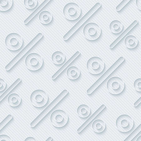 percentage sign: Light gray percent symbols wallpaper. 3d seamless background. Vector EPS10.