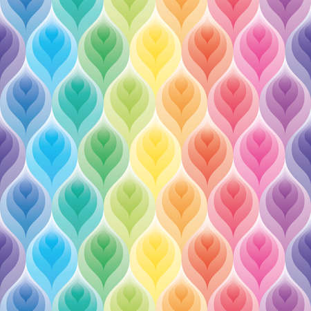 seamless damask: Rainbow wallpaper. 3d seamless background. Vector EPS10.