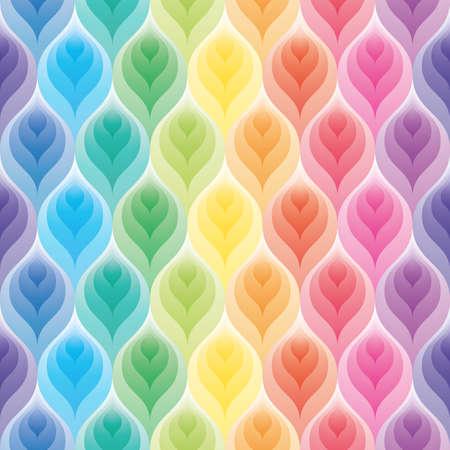 floral: Regenbogen-Hintergrund. 3d seamless background. Vektor-EPS10. Illustration