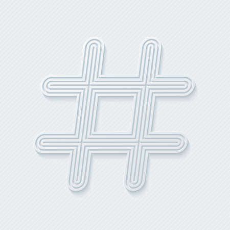 hash: Hash tag outline symbol. Vector EPS10. Illustration