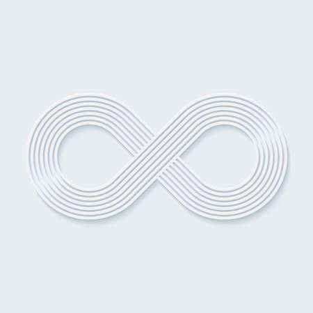infinity road: Infinity symbol. Vector EPS10.
