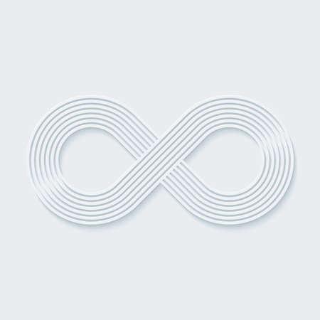 signo de infinito: Símbolo infinito. Vector EPS10. Vectores