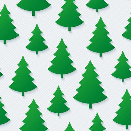 christmas paper: Christmas tree seamless pattern. Vector EPS10.
