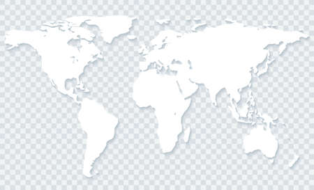 White world map with shadow on transparent backgroundctor stock stock photo white world map with shadow on transparent backgroundctor eps10 gumiabroncs Images