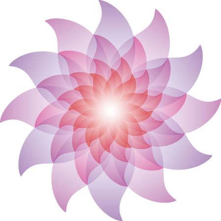 Beautiful Purple Lotus Flower Icon.