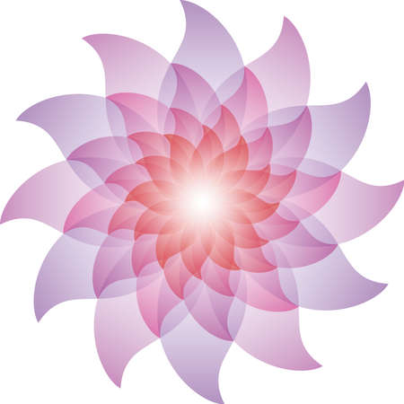 daisy wheel: Beautiful Purple Lotus Flower Icon.