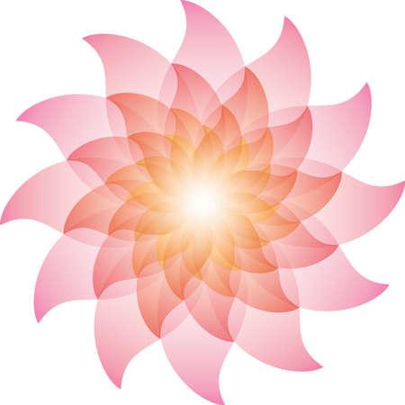 yellow orange: Beautiful Pink Lotus Flower Icon. Stock Photo