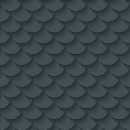 Dark gray fish scale seamless background. Neutral tileable pattern of fish scale. Vector EPS10.