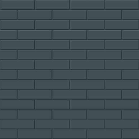 Bricks wall seamless dark background. Dark tileable neutral pattern of new brickwall. Vector EPS10. Illustration