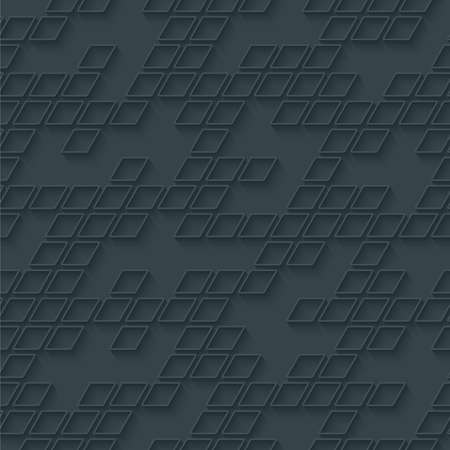 perforated: Abstract hi-tech geometric seamless pattern. Neutral tileable background of rhombus mosaic, Vector EPS10.