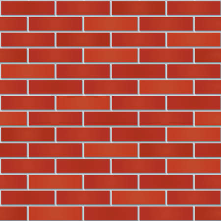 clinker tile: Bricks wall seamless background. Tileable pattern of new red brickwall. Vector EPS10. Illustration