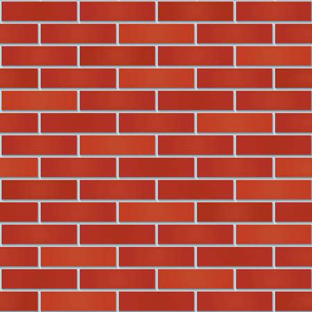 Ziegel Wand nahtlose Hintergrund. Verfliesbare Muster des neuen roten Brickwall. Vektor-EPS10.
